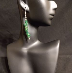 Natural AVENTURINE Handmade Gemstone Chip Earrings